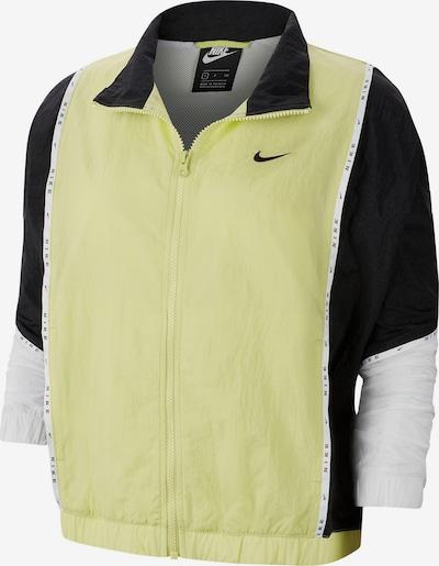 Nike Sportswear Jacke in neongelb / schwarz / weiß, Produktansicht