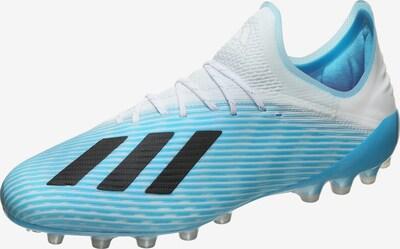 ADIDAS PERFORMANCE Fußballschuh 'X 19.1 AG' in hellblau / schwarz / weiß, Produktansicht