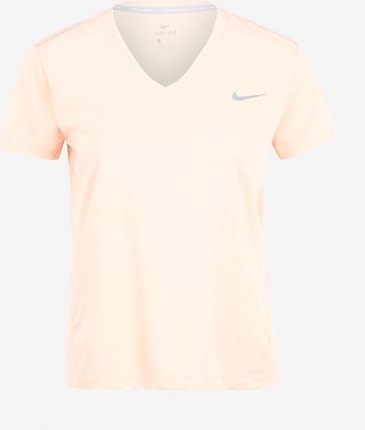 NIKE Sportshirt 'Miler' in hellgrau / rosa, Produktansicht