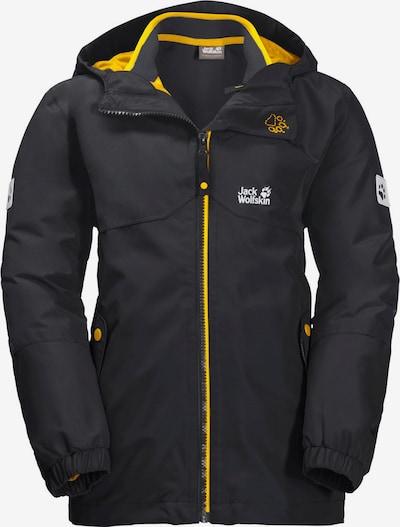 JACK WOLFSKIN 3-in-1-Jacke 'ICELAND' in gelb / dunkelgrau, Produktansicht