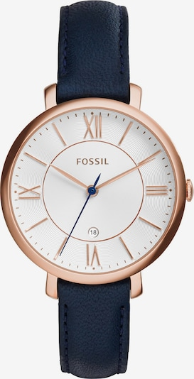 FOSSIL Armbanduhr 'JACQUELINE' in navy / rosegold, Produktansicht