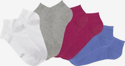 BENCH Socken in blau / grau / bordeaux / weiß, Produktansicht