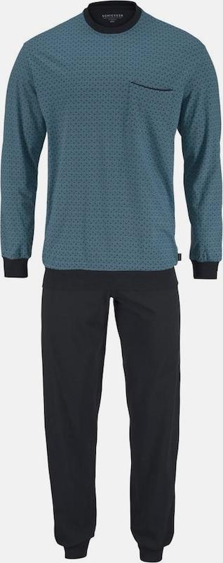 SCHIESSER Pyjama lang mt Druck