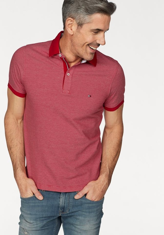 TOMMY HILFIGER Poloshirt, HAUTE RED