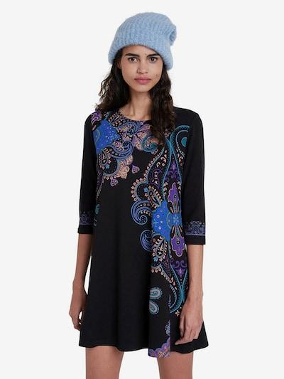 Desigual Kleid in nude / blau / lila / schwarz, Modelansicht