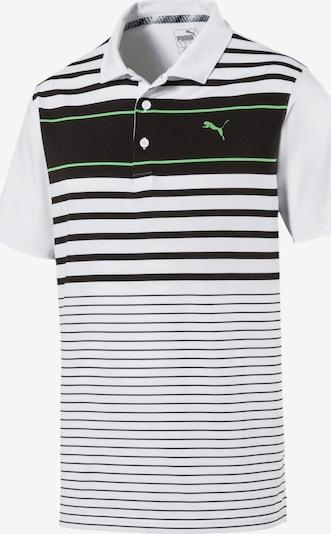 PUMA Polo 'Spotlight' in hellgrün / schwarz / weiß, Produktansicht