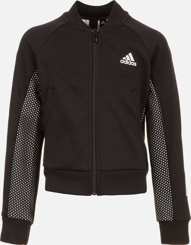 ADIDAS PERFORMANCE Trainingsjacke in schwarz / weiß, Produktansicht