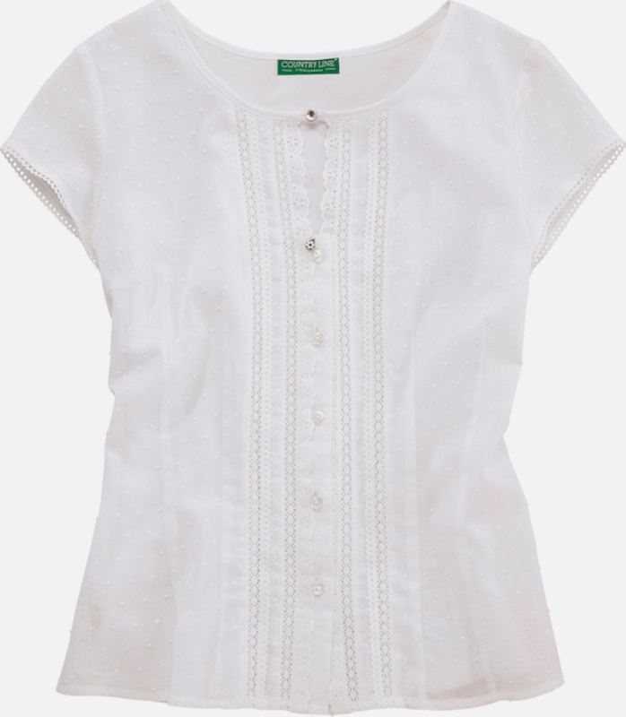Country Line Costume Shirt With A Delicate Lace