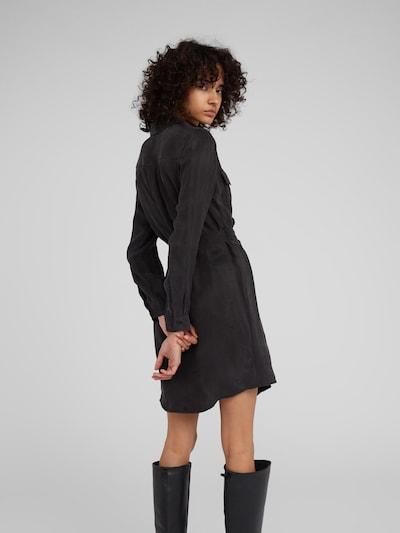 EDITED Kleid 'Farha' in schwarz: Rückansicht