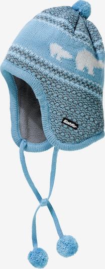 Eisbär Mütze in hellblau / weiß: Frontalansicht