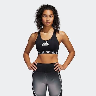 ADIDAS PERFORMANCE Biustonosz sportowy 'Don't Rest' w kolorze czarny / białym, Podgląd na modelu(-ce)