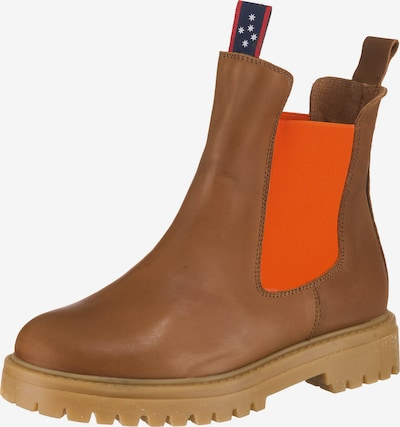 JOLANA & FENENA Chelsea Boots in cognac / orange, Produktansicht