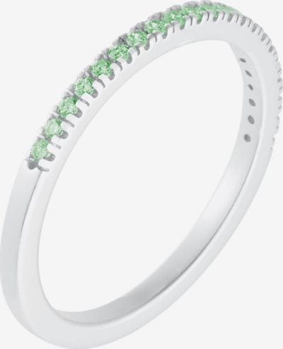 ID Fine Ring 'Green Simplicity' in grün / silber, Produktansicht