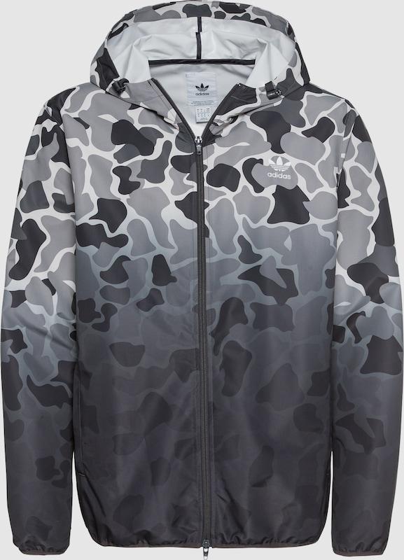 Adidas Jacke mit mit mit Logo Stickerei Herren Grau Töne S