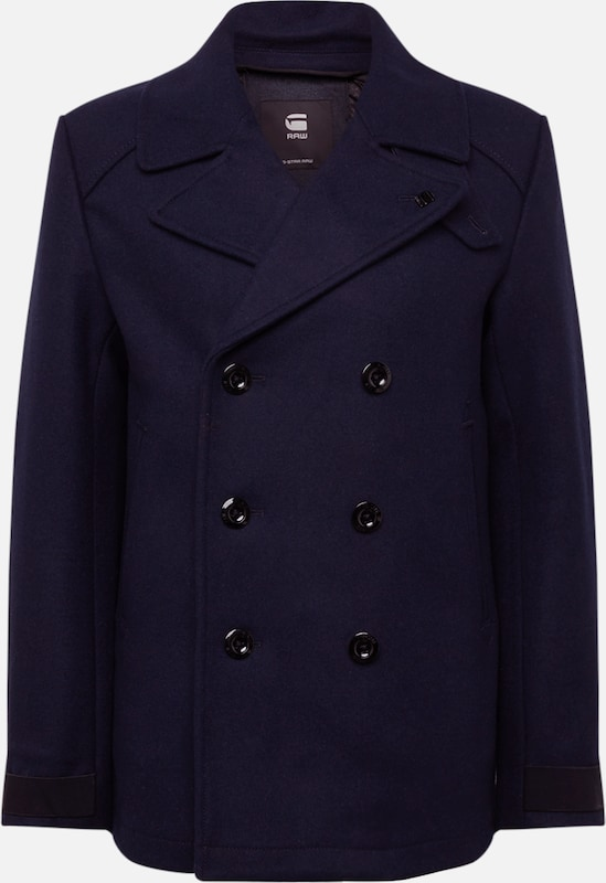 G-Star RAW Mantel 'Traction wool peacoat' in dunkelblau, Produktansicht
