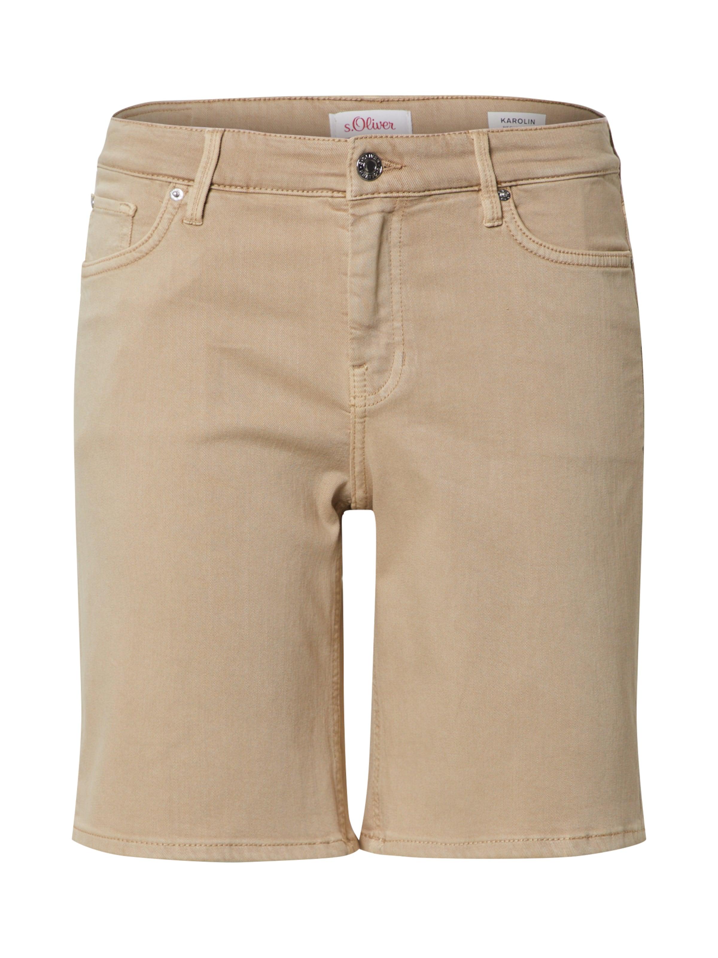 s.Oliver Shorts 'Karolin' in beige / braun