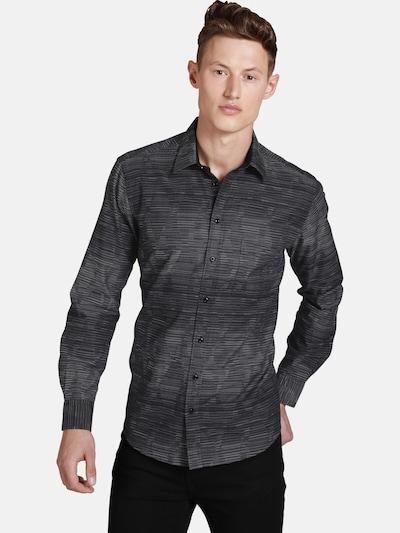 Shirtmaster Overhemd ' Blackmidnight ' in de kleur Zwart: Vooraanzicht