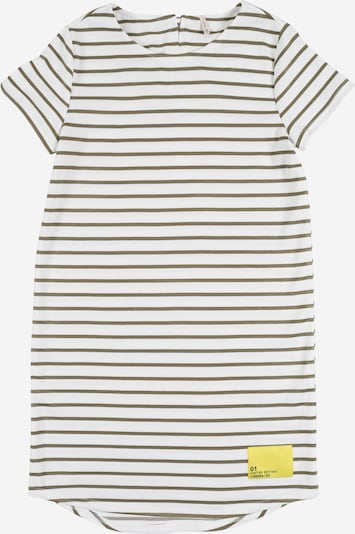 KIDS ONLY Kleid 'KONKIMI S/S PATCH DRESS JRS' in creme / oliv, Produktansicht