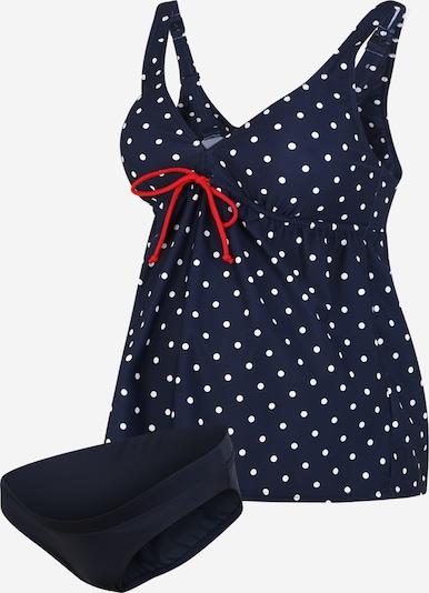 MAMALICIOUS Majica za kopanje | črna / bela barva, Prikaz izdelka