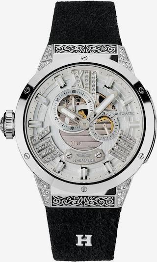 HAEMMER Uhr in schwarz / silber / weiß, Produktansicht