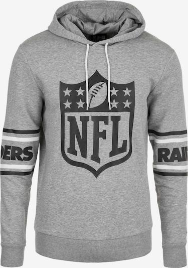 NEW ERA Kapuzenpullover 'NFL Badge Oakland Raiders' in graumeliert / schwarz / weiß, Produktansicht