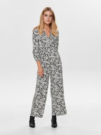 ONLY Jumpsuit in de kleur Zwart / Wit, Modelweergave