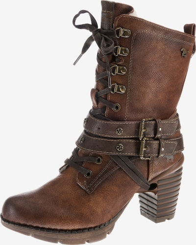 MUSTANG Lace-up bootie in Brown, Item view
