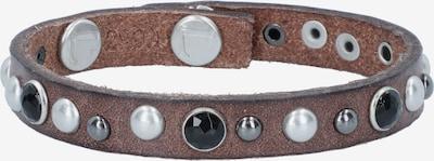 Liebeskind Berlin Bracelet en marron / noir / argent, Vue avec produit