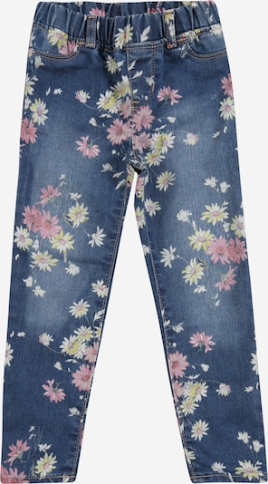 Pantaloni 'V-DAISY JEG' GAP pe denim albastru / galben deschis / roz, Vizualizare produs