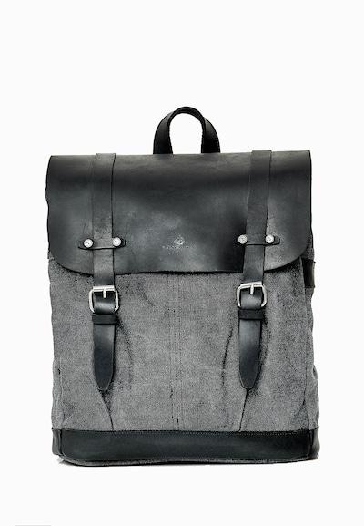 DREIMASTER Rucksack in graumeliert / schwarz, Produktansicht