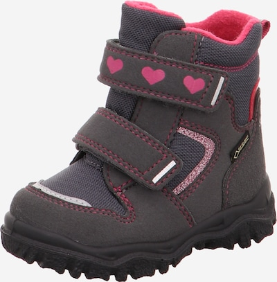 SUPERFIT Halbschuhe in anthrazit / pink, Produktansicht