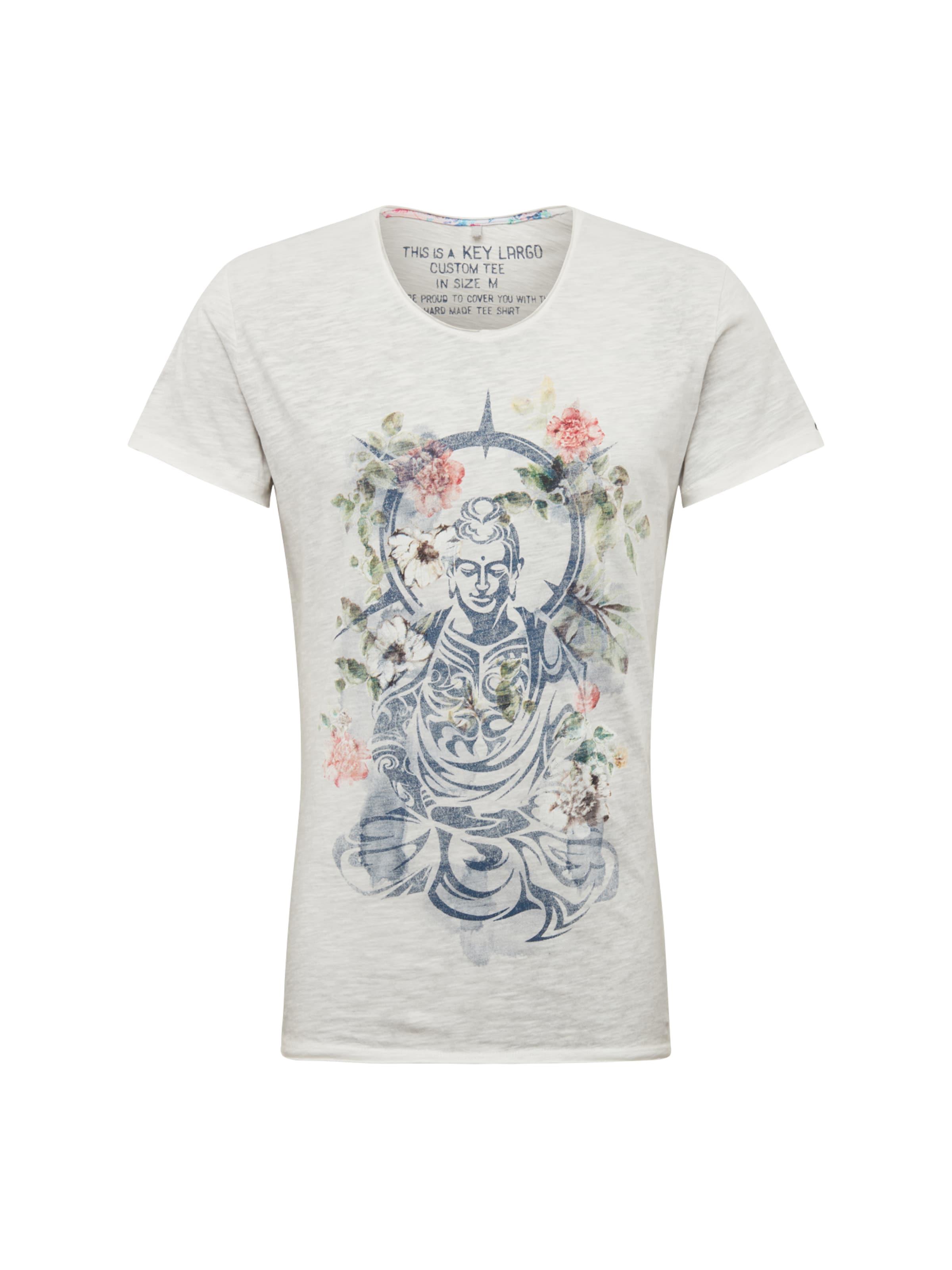 En Key V Roi Buddha Bleu T 'mt neck' Gris Largo Clair shirt 44w0X