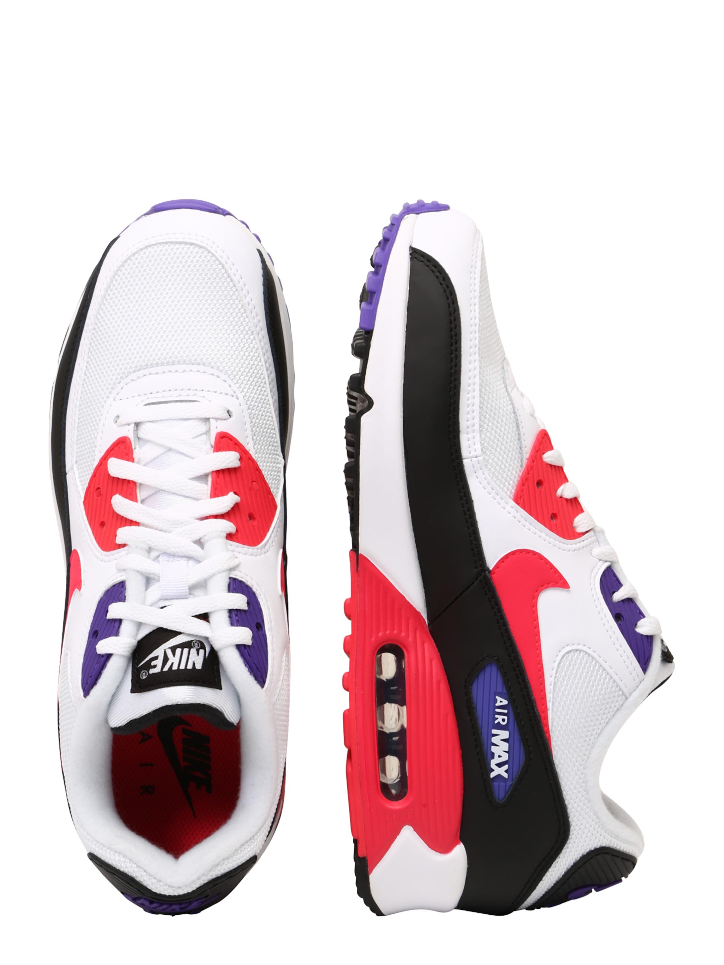 '90 In Nike 'air Max Sportswear Weiß Sneaker Low RotSchwarz Essential' 8XnwOk0P