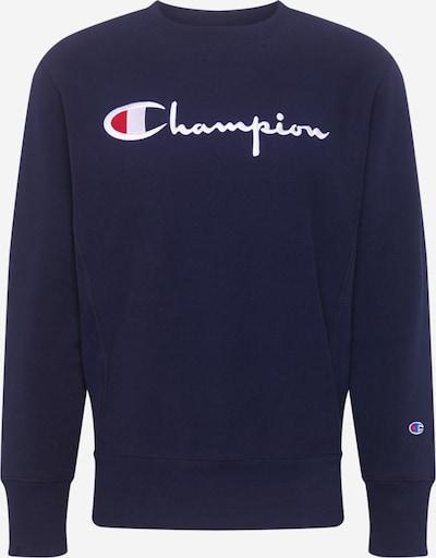 Champion Reverse Weave Sweatshirt 'Crewneck' in navy / rot / weiß, Produktansicht