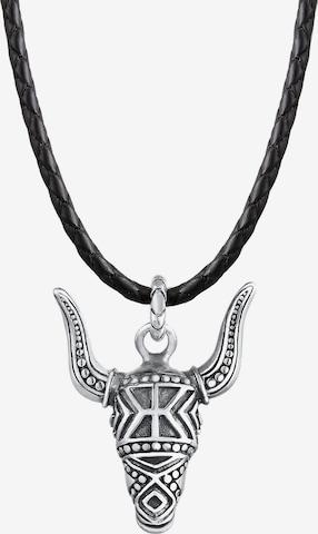 KUZZOI Halskette Stierkopf in Schwarz