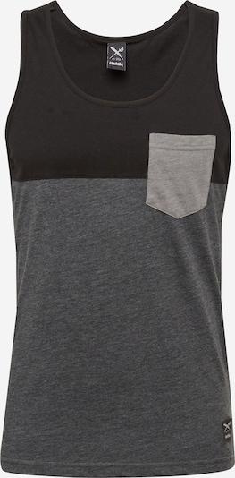 Iriedaily T-Shirt en gris foncé / noir, Vue avec produit