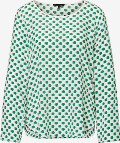 Marc O'Polo Blouse in de kleur Groen / Wolwit, Productweergave