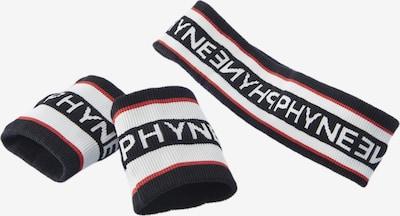 PHYNE Bandeau de sport en bleu nuit / rouge / blanc, Vue avec produit