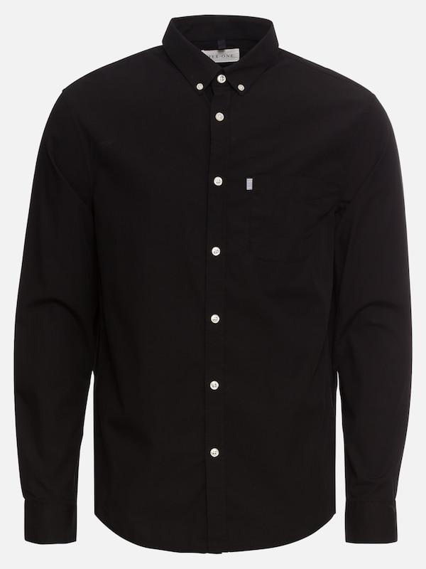 Label' Shirt One W 'poplin Pier Chemise Noir Bd Chest En xIqPw04
