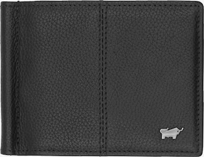 Braun Büffel Portemonnaie in schwarz: Frontalansicht