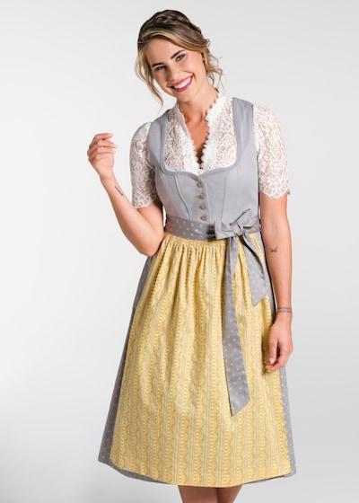 SPIETH & WENSKY Dirndl 'Nani' in gelb / grau, Modelansicht