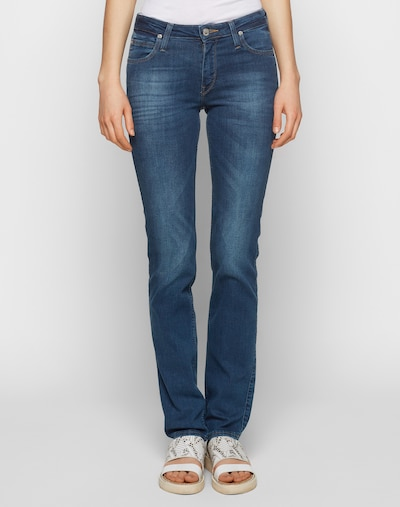 Lee Jeans 'Marion Straight' in blau: Frontalansicht