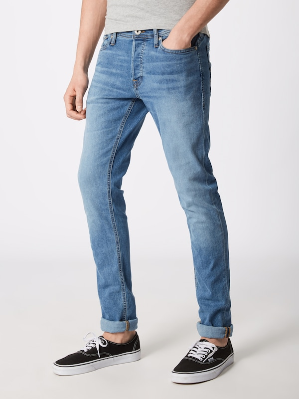 JACK & JONES Jeans 'Glenn Original AM 815' in blue denim, Modelansicht