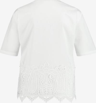 GERRY WEBER Bluse mit Spitzenbesatz in weiß, Produktansicht