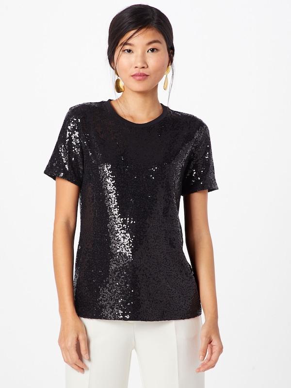 Noir Sequin Crew Neck Top' s shirt 'foundationS Dkny En T tdCQxhrs