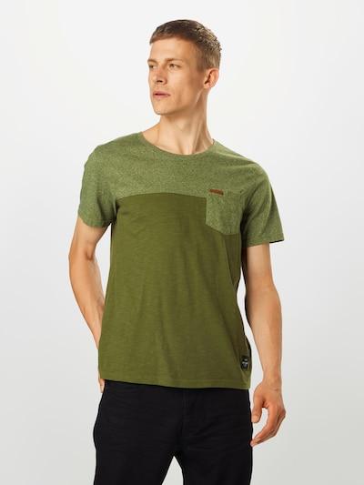 Key Largo Koszulka 'TERMINAL' w kolorze khakim: Widok z przodu