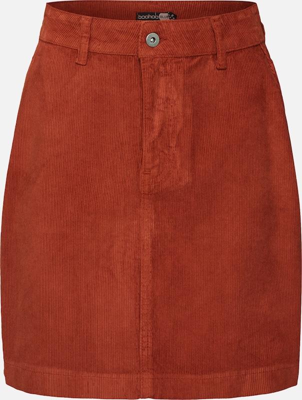 Mini Skirt' En 'cord Boohoo Jupe Rouge m8Nn0wOv