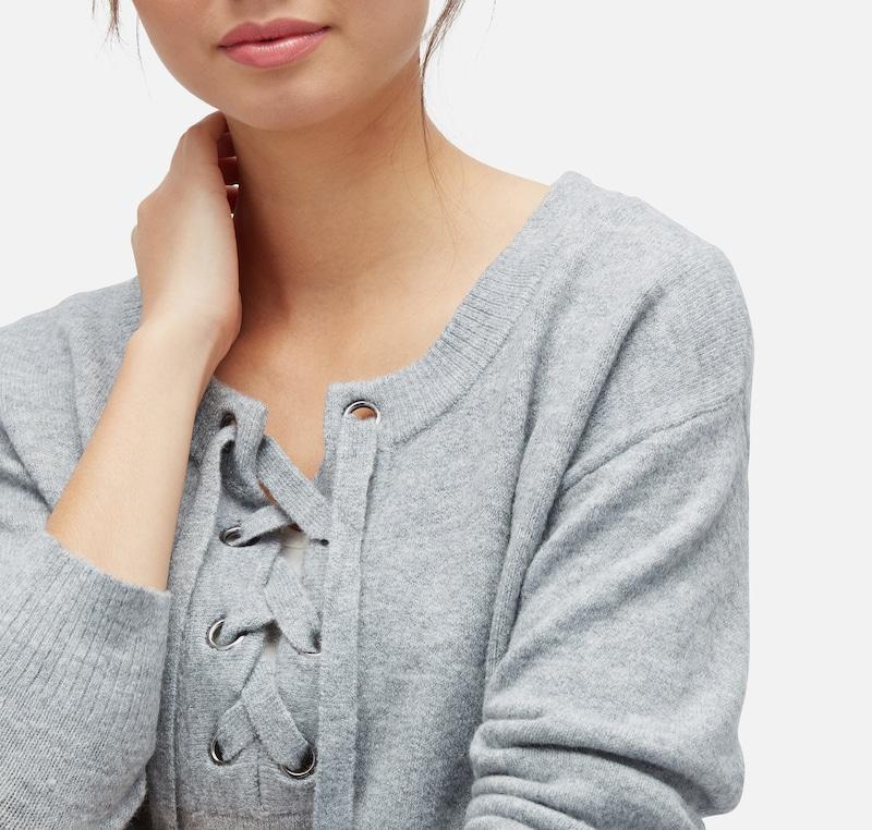 TOM TAILOR DENIM knit Pullover mit Schnürung