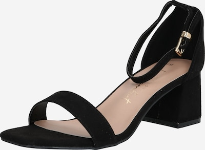 NEW LOOK Sandales 'ZANIEL' en or / noir: Vue de face