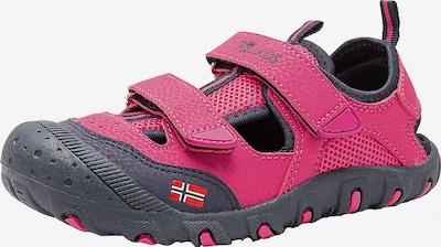 TROLLKIDS Sandale in dunkelgrau / fuchsia, Produktansicht